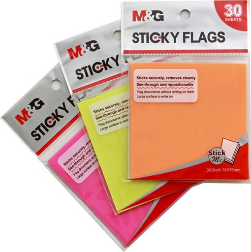YS-64 Transparent sticky notes - 3 colours