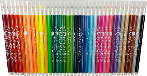 Fibre tip washable pens