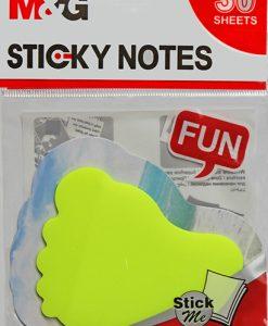YS-94 - Transparent Sticky Shapes - Foot LR