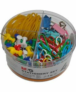 Clips, PIns & bands stationery set