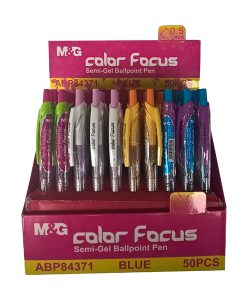 Colour Focus retractable ball pen ABP84371 retail shelf display