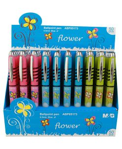 'Flower' retractable ball pen ABP85173 Retail shelf display